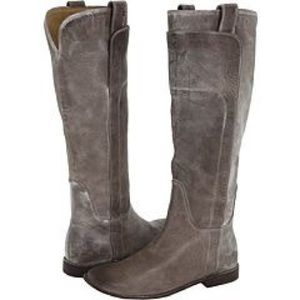Frye Shoes - Frye Paige Tall Riding Boots Grey