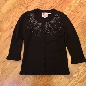 Juicy Couture Sweaters - JUICY COUTURE Black Sparkle Cardigan Sweater