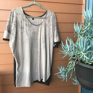 Cheap Monday Tops - Sheer back splatter print top Nordstrom size small