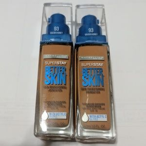Maybelline Other - Set of Maybelline superstay better skin 93