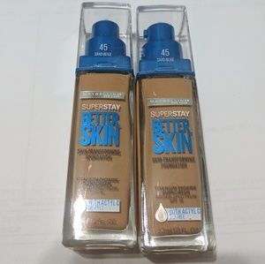 Maybelline Other - Set of Maybelline superstay better skin 45