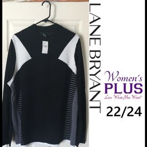 Lane Bryant Sweaters - NWT Black Colorblock Sweater PLUS 22/24 RET. $60