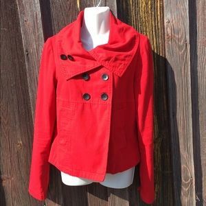 Tulle Jackets & Blazers - Tulle red button jacket !