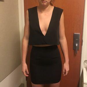 solace london Dresses & Skirts - 2 piece black mini dress