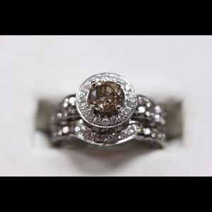 Jewelry - Chocolate Diamond Ring Set 14K White Gold