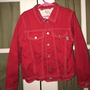 Gymboree Other - Gymboree cherry jacket xxl-7yrs. red