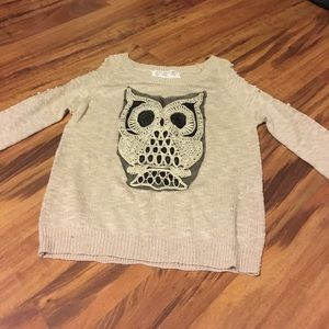 Spool 72 Sweaters - Cold shoulder owl sweater