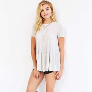 Truly Madly Deeply dusty road off white peplum top