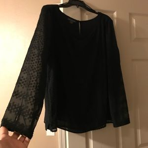 New Black Shear Blouse