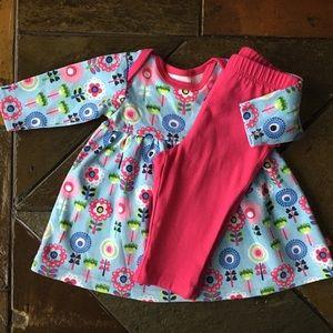 Zutano Other - Zutano dress size 3 Months ruffle leggings pink