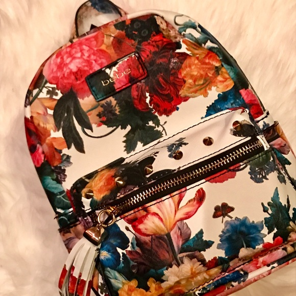 BRAND NEW Bebe Floral Mini Backpack NWT