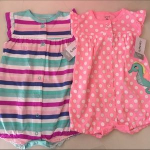 Carter's Other - Set of 2 Carters Rompers NWT Size 12 months