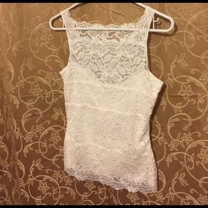 Soma Tops - Cream lace camisole with tube liner