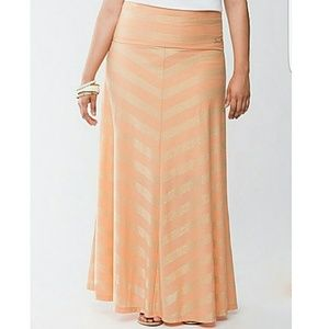 Seven7 Dresses & Skirts - SEVEN7 CHEVRON MAXI SKIRT