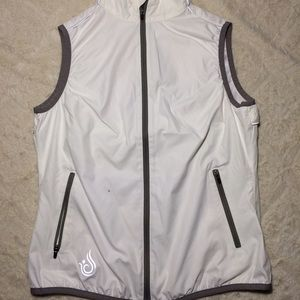Isis Jackets & Blazers - Isis activewear Vented back white vest
