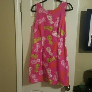 lilly pulitzer pineapply style dress