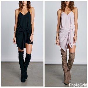 Dresses & Skirts - Pink/Black Side Tie Jersey Dress