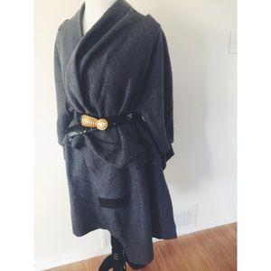Jackets & Blazers - 24hrSale❗️Wool Avant-Garde Batwing Trench Coat SML