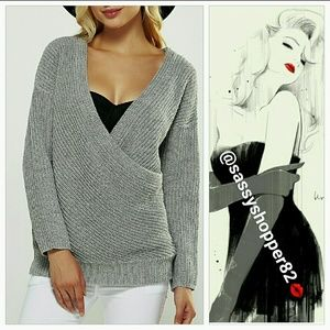 Sweaters - 💋 LAST ONE 💋 'ALEXIA' GRAY knitted sweater