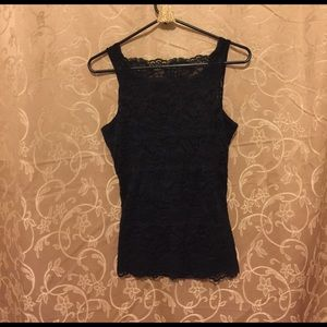 Soma Tops - Black lace Camisole with tube lining