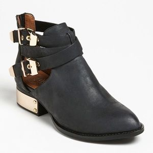 Jeffrey Campbell Shoes - Jeffrey Campbell Ibiza Black Leather Booties