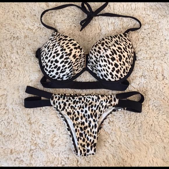baca694fba45d Victoria s Secret PU halter top   matching bottoms.  M 58cb5923bf6df5be90014020