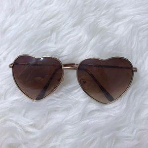 UO Heart Sunglasses