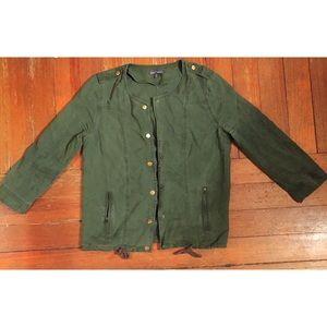 Market & Spruce Jackets & Blazers - Market & Spruce Olive Green Light Jacket