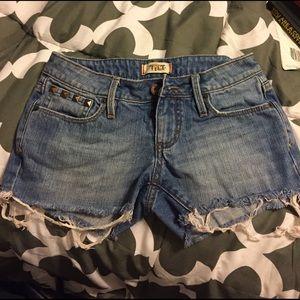 PacSun Denim - Distressed Tilt cutoff jean shorts.