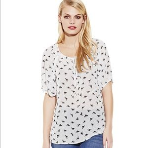 NWOT Two by Vince Camuto Busy Tee Top