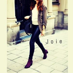 Joie Shoes - Joie suede booties in Plum Barlow like new 7.5