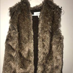 Sebby Jackets & Blazers - 💗💗 cute brown furry vest💗💗