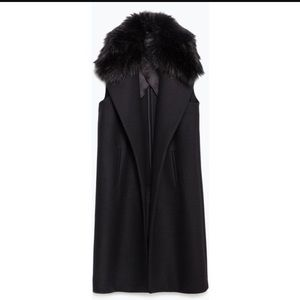 Sale! Zara faux fur long vest