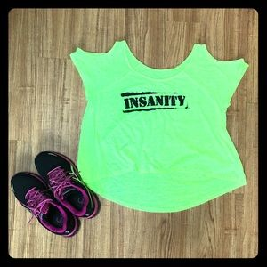 Tops - Insanity Cold Shoulder Workout Top