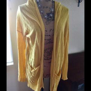 Anthropologie- Sparrow Yellow Cardigan/Sweater