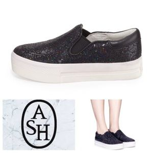 Ash Other - LIKE NEW!  Ash Glitter platform sneakers- youth sz