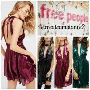 Free People Sequin Mini Dress