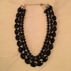 EUC NY and Co Black Beaded Necklace