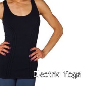 Electric Yoga Tops - Electric Yoga by Michele Bohbot Black Slim Tank S