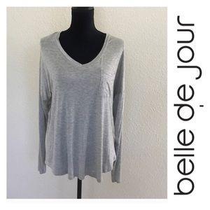 Belle Du Jour Tops - NWT Grey Top