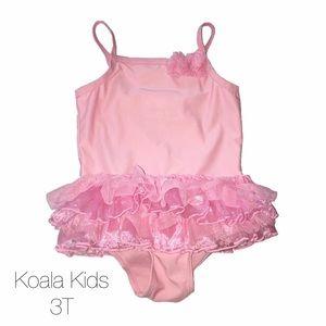 Koala Kids Pink Ballerina Tutu Swim Suit 3T