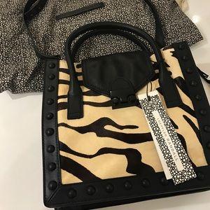 Loeffler Randall Handbags - 💯Loeffler Randall Crossbody Real Fur & Leather
