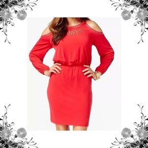 Thalia Sodi Dresses & Skirts - 'Valencia' Embellished Cold-Shoulder Dress