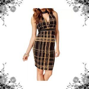 Thalia Sodi Dresses & Skirts - Chain Print Faux Leather Collar Dress