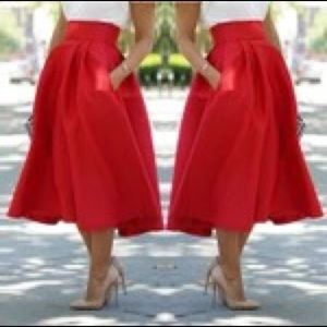 Dresses & Skirts - Red skirt