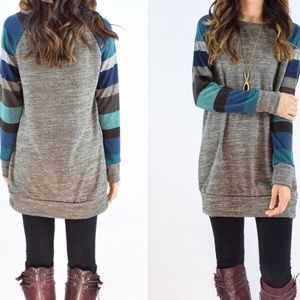 Sweaters - Gray long light sweater shirt