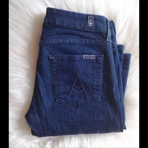 7 For All Mankind Denim - 7 FOR ALL MANKIND A Pocket Petite Jeans 24X28