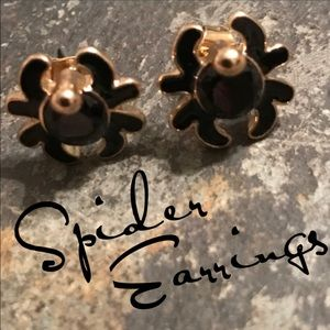 Hot Topic Jewelry - Black spider stud earrings Halloween