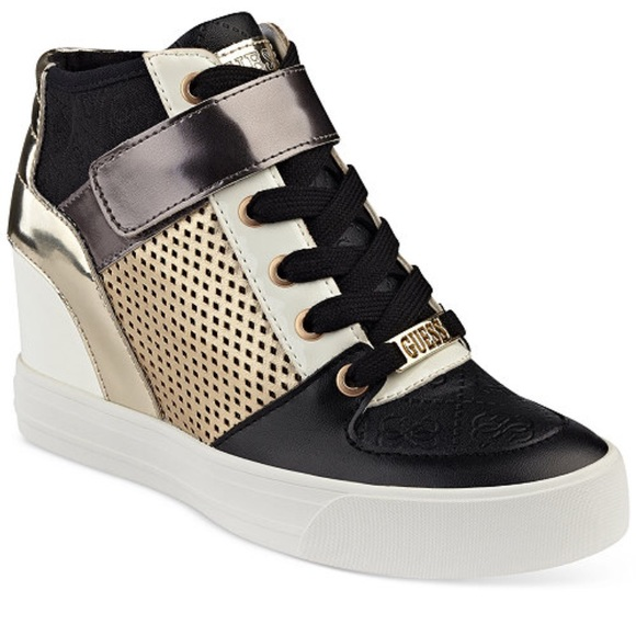 c7a3d9e28508 Price✂️firm was 80  Guess wedge sneakers