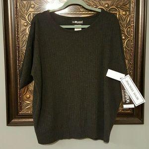 Sag Harbor Sweaters - Sag Harbor charcol gray sweater 2X woman
